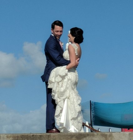 Lagerheads Beach Bar: Lovely couple getting wedding pics taken today. Hopefully they will enjoy these candid pictures.