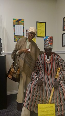 Duncanville, TX: 90 year old Mom enjoying lifelike African Chief display