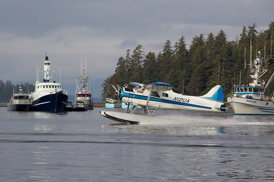 Float planes and boats are common modes of transportation on Prince of Wales Island.