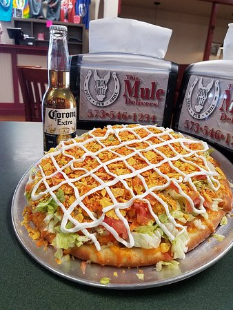 Iron Mule: Our Taco Pizza