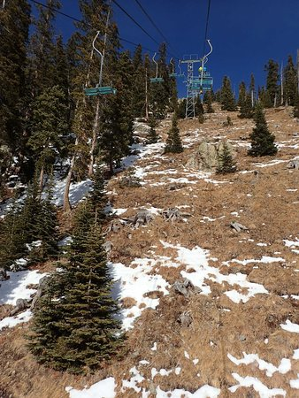 Taos Ski Valley, Nuevo Mexico: One trail that is not skiable this year...