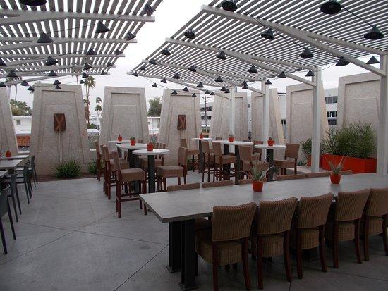Outdoor Seating Modern Market Restaurant 4821 North