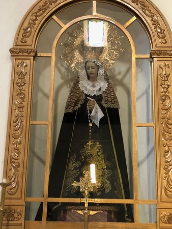 Iglesia de la Encarnacion: one of several intricate sculptures. This one of Virgin Mary.