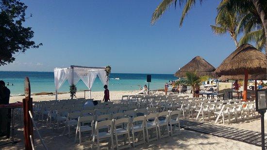 Dreams Sands Cancun Resort & Spa: Estrutura montada para Casamento