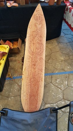 Paia, HI: Liki's Tiki- Hand carved and personalized. Made to order available with advance notice. Meet the