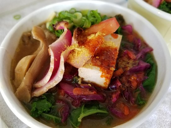 "Paia, HI: Takashisan's famous vegan ramen ""Garden Sushi Maui"" so ono! Available Tuesdays only"