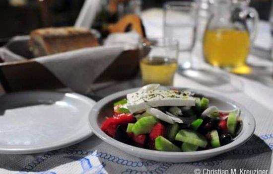 Rodakino, Grækenland: Δείπνος Στην ταβέρνα Virgin Mary
