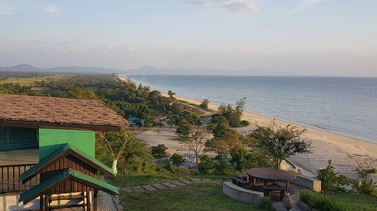 Dawei, Myanmar: View from the pagoda in the end of the beach