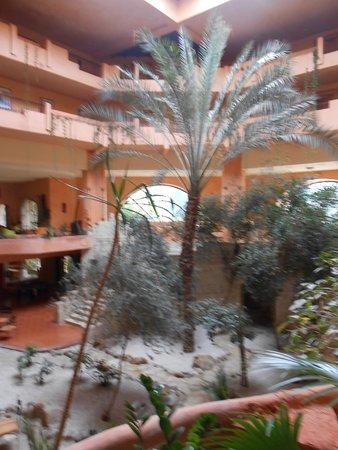 Chich Khan: jardin intèrieur avec palmiers et autres plantes exotic