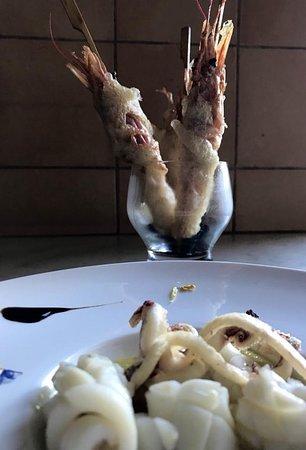 Gamberoni in tempura