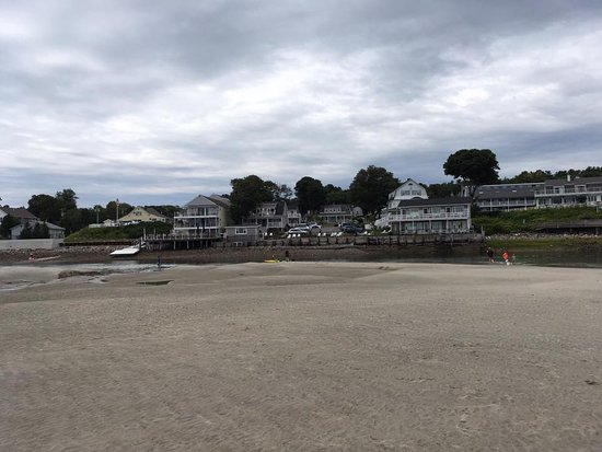 Ogunquit Beach: the stretch of water that goes around the beach like a stream or river