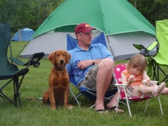 Shafer, MN: Camping with the whole family.
