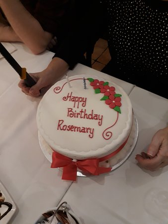 Outstanding My Wifes Birthday Cake Picture Of Puccinis Pizzeria E Funny Birthday Cards Online Overcheapnameinfo