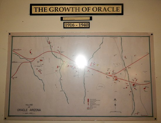 Map Of Oracle Arizona.Historical Structures Map Of Oracle Picture Of Acadia Ranch Museum