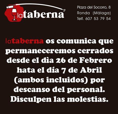 La Taberna: Cerrado por descanso.