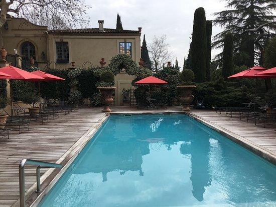 Villa Gallici: piscine chauffée un jour d'hiver