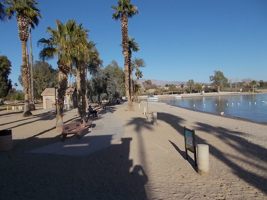 London Bridge Beach and Park, across The London Bridge, Lake Havasu City, AZ.
