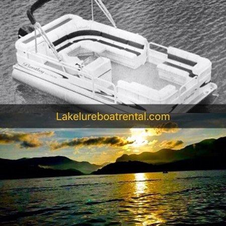 Lake Lure, Carolina del Norte: lakelureboatrental.com Daily, Weekend & weekly 24ft Pontoon Boat Rental
