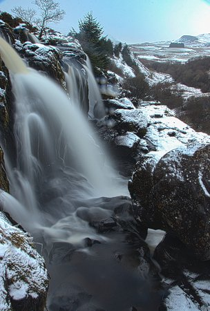Fintry, UK: A close up of part of the falls