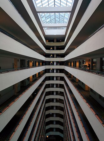 Harrah's Resort Atlantic City: Interesting view to the hotel rooms