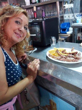 Restaurante La Romana: En la barra de La Romana