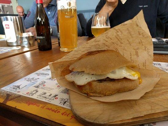 L'Oragiusta: mix carne e uovo e birra artigianale