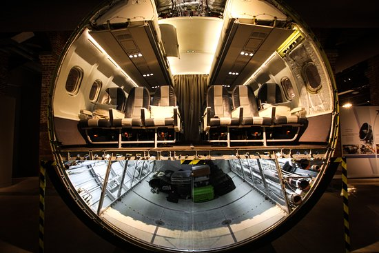 A cross section of the hull of an aircraft. - Picture of ...