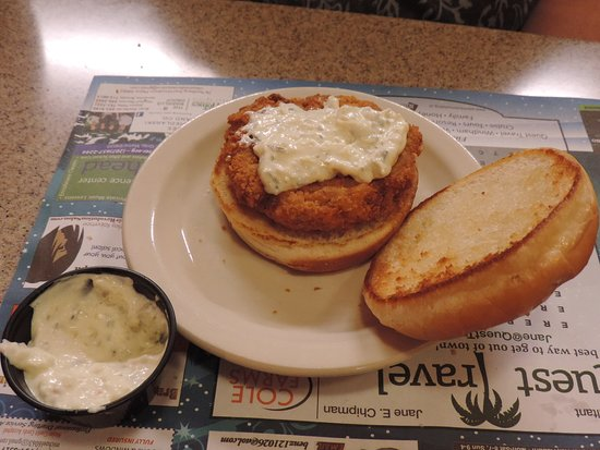 Gray, ME: Crabcake sandwich