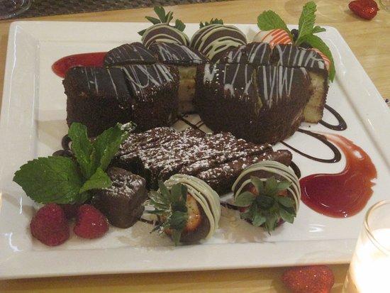North 26 Restaurant and Bar: dessert platter for the bride & groom