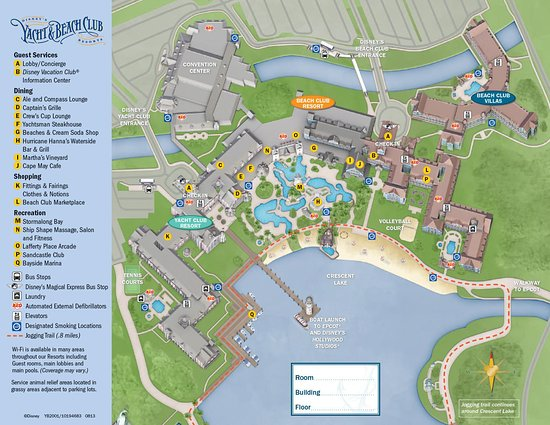 Map of the complex - Picture of Disney\'s Yacht Club Resort, Orlando ...