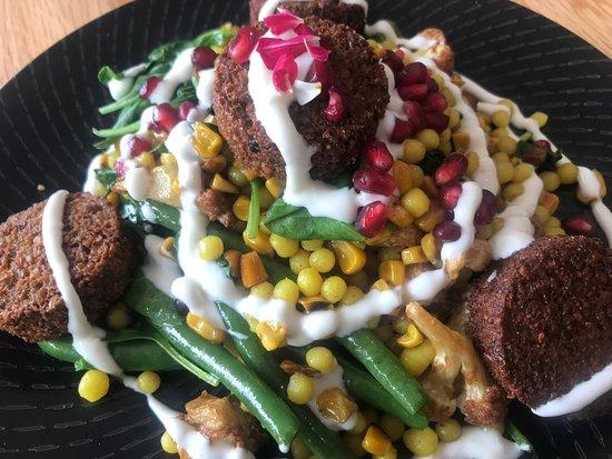 Rockabye Candy: Cous Cous, Falafel Salad