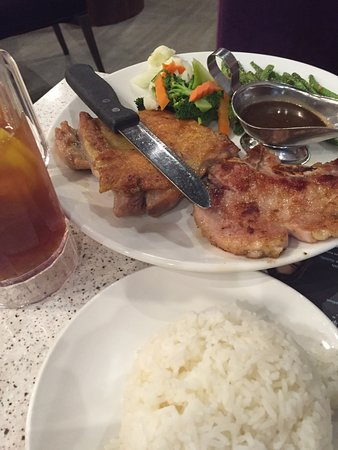 Monterey Park, CA: Combo of pork chops and chicken