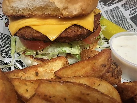 Thiensville, WI: Veggie Patty on our Skippy Burger