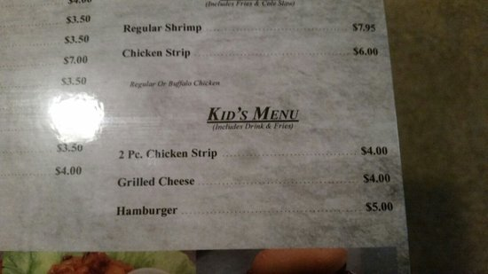 Clinton, IL: Kids menu