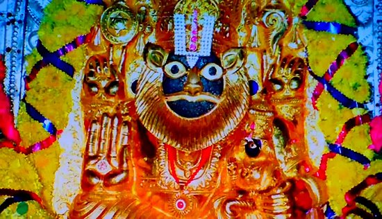 Lakshmi Narasimha In The Inner Sanctum Picture Of Sri Laxmi