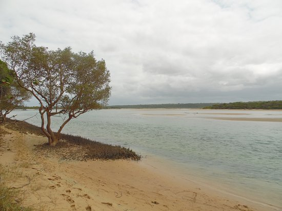 "Utshwayelo Lodge: The ""aquarium"" looking toward the ancient ""fish traps"""