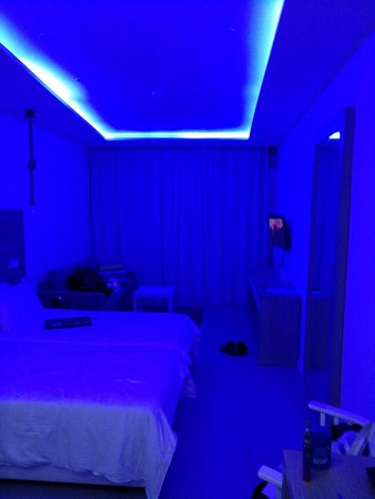 The Room With Blue Romantic Lighting Set Unedited Picture Of Island Boutique Hotel Restaurant Larnaca Tripadvisor