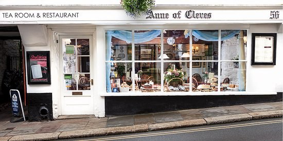 Anne of Cleves: Our Tearoom is on the high street - easy access