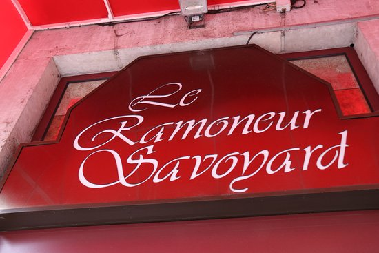 enseigne du restaurant picture of le ramoneur savoyard annecy tripadvisor. Black Bedroom Furniture Sets. Home Design Ideas