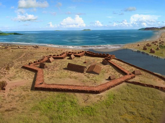 Waimea, Hawái: Graphical reconstruction of Fort Elizabeth