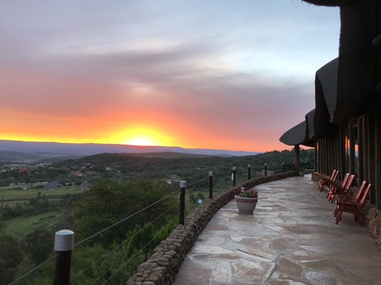 Isandlwana, South Africa: Sunset from patio
