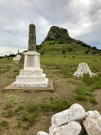 Isandlwana, South Africa: Cairns and memorials to British dead