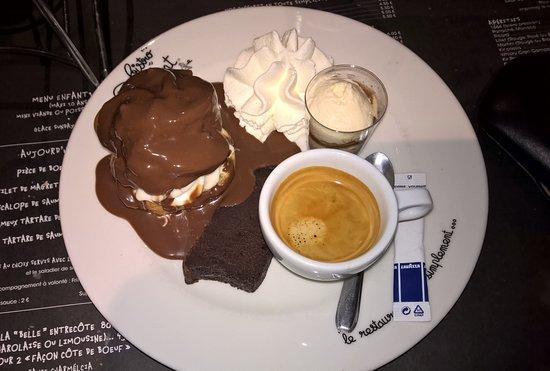 Tresses, ฝรั่งเศส: café gourmand