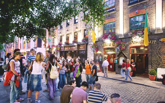 Temple Bar, Dublin. Photo provided by Tourism Ireland