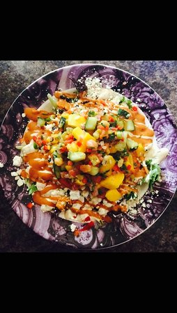 Ogdensburg, NY: Mango Cucumber Salad (menu item)