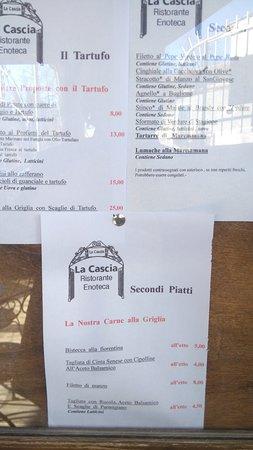Montemerano, Italy: Menu