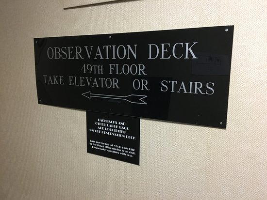 Carew Tower: One of two elevators you'll need to take!