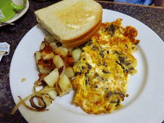 Takoma Park, Maryland: Kimchi omelet