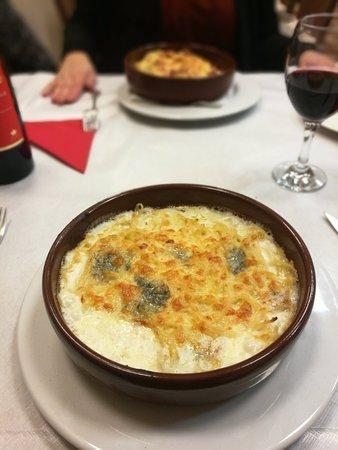Gesves, Belgien: Spaghettis gratinés aux quatres fromages.