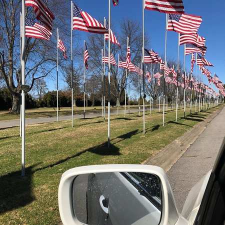 The Avenue of 444 Flags: Play here for the first time today! The breeze.. flag fluttering in the wind the weather is very
